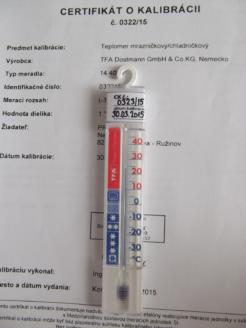 Teplomer HACCP do chladnicky