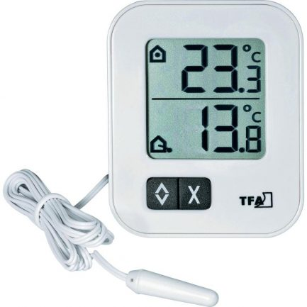 Teplomer na meranie teploty vonkajsej a vnutornej